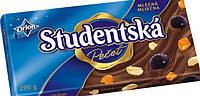 Молочный шоколад с изюмом и арахисом Studentska Чехия 180г