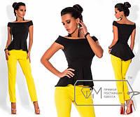 Костюм женский с желтыми брюками ИЦ/-1592