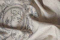 Ткань для штор лен Provence black 2