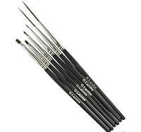 Набор кисточек G. La color для дизайна и китайской росписи с черной ручкой (6 шт)