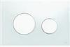 Панель смыва ТЕСЕloop из белого стекла, клавиши белые