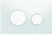 Панель смыва ТЕСЕloop из белого стекла, клавиши белые, фото 1