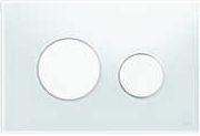 Панель змиву ТЕСЕloop з білого скла, клавіші білі, фото 1