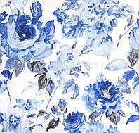 Ткань для штор цветы акварель, фото 1