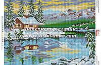 Схема для вышивания бисером опт - Зима