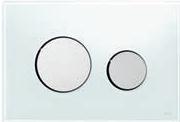 Панель смыва ТЕСЕloop из белого стекла, клавиши глянцевые, фото 1