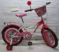 Велосипед TILLY Миледи 18 T-21822 white + crimson