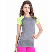 Женская футболка для занятий спортом салатовая