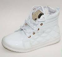 Модные ботинки для девочки белые весна осень, 25-30