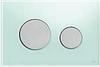 Панель смыва ТЕСЕloop из зеленого стекла, клавиши матовые