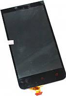 Дисплей (экран) + сенсор (тач скрин) HTC 603e, E1 black (оригинал)