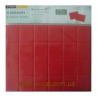 Коврик для сервировки стола (4 шт)  красный (31,5 х41,5 см)Tchibo, Германия.