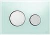 Панель смыва ТЕСЕloop из зеленого стекла, клавиши глянцевые