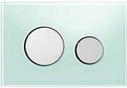 Панель смыва ТЕСЕloop из зеленого стекла, клавиши глянцевые, фото 1