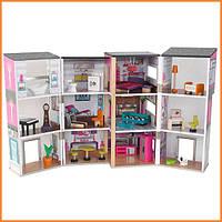 Дом для кукол KidKraft Contemporary Deluxe Townhouse кукольный дом с мебелью 65883