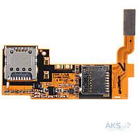 Шлейф для LG E980 / E985 Optimus G Pro с разъемом SIM-карты и карты памяти