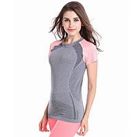 Женская футболка для занятий спортом фитнесс йога, розовый цвет