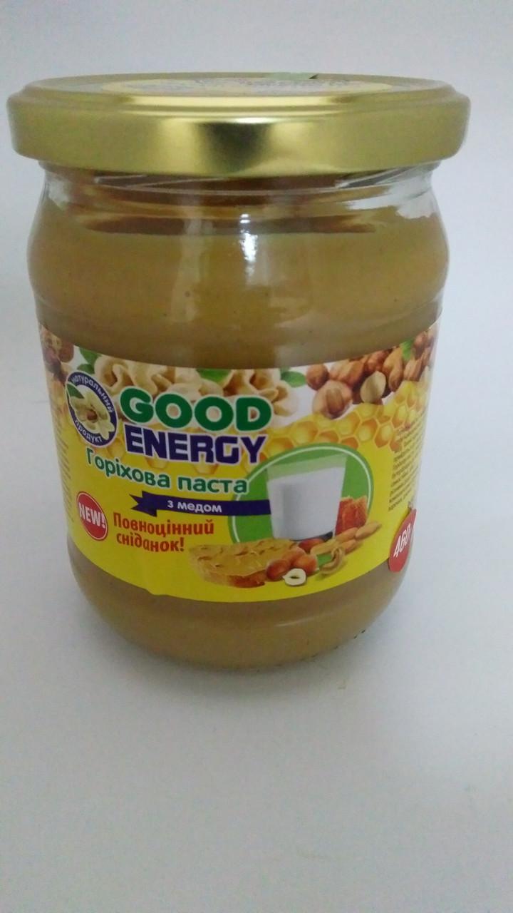 """Ореховая паста с медом """"Good Energy"""" 460г Украина  - 04799"""