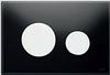 Панель смыва ТЕСЕloop из черного стекла, клавиши белые