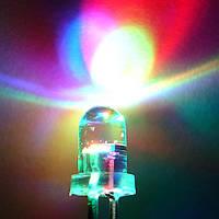 Светодиод мигающий RGB 5mm (медленный)