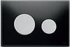 Панель смыва ТЕСЕloop из черного стекла, клавиши матовые