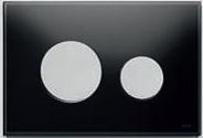 Панель смыва ТЕСЕloop из черного стекла, клавиши матовые, фото 1