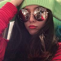 Солнцезащитные очки круглые большие, Новинка 2016 года