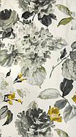 Ткань для штор цветы акварель Otylia Charcoal