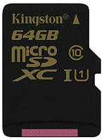 Kарта памяти Kingston microSDXC 64 Gb UHS-I no ad U1 (R90, W45MB/s)