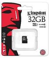 Карта памяти Kingston microSDXC 32 Gb UHS-I+adapter U1 (R45, W10MB/s)