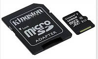 Карта памяти Kingston microSDXC 128 Gb UHS-I+adapter U1 (R45, W10MB/s)