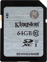 Kарта памяти Kingston SDXC 64 GB G2 (CLASS 10) UHS-I