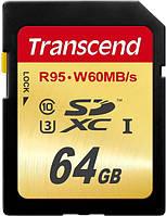 Карта памяти Transcend 64 GB class 10 UHS-I U3 Ultimate
