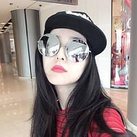 Уникальные солнцезащитные очки круглые большие