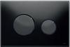Панель смыва ТЕСЕloop из черного стекла, клавиши черные