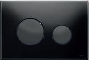 Панель смыва ТЕСЕloop из черного стекла, клавиши черные, фото 1