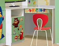 Стіл в дитячу кімнату з ДСП/МДФ кутовий Мульті Алфавіт Світ Меблів