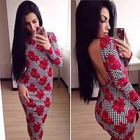 Платье с глубоким вырезом на спине и змейкой (19)