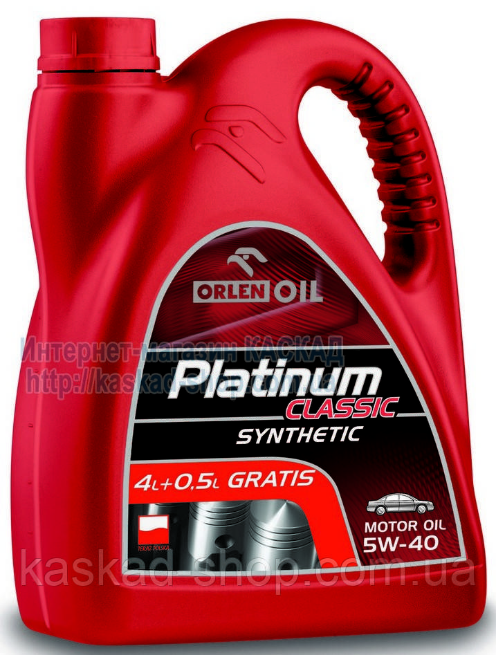 Масло моторное Platinum Classic Synthetic 5W-40 4,5L