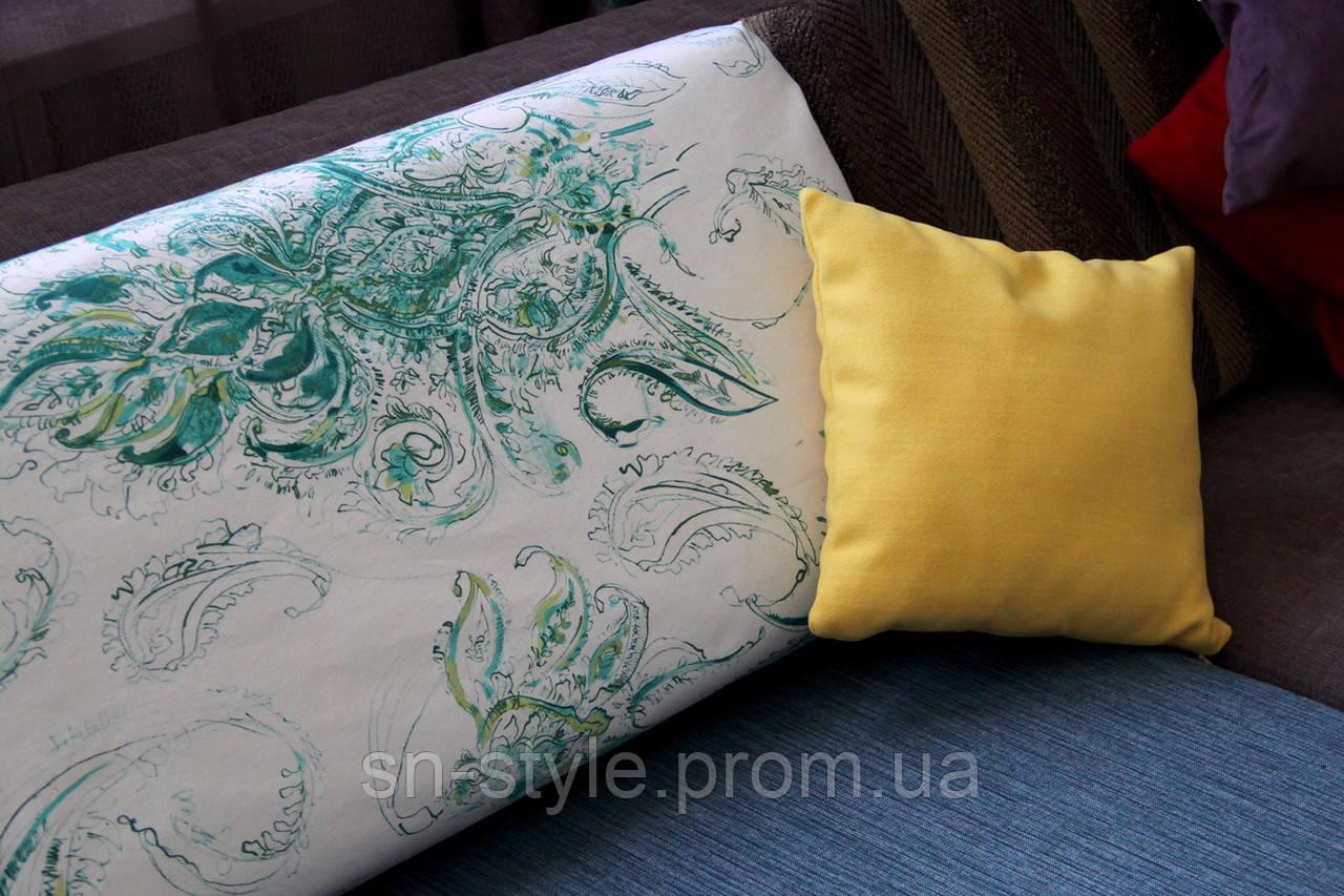 Ткань для штор акварель Gabriel Emerald