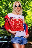 """Футболка женская стильная с фотопринтом """"Estetics army"""""""