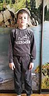 Велюровый костюм для мальчиков Hermes серый размеры: 116,128,134