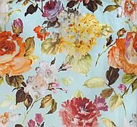 Ткань для штор цветы акварель Otylia Summer