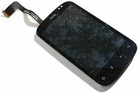 Дисплей (экран) + сенсор (тач скрин) HTC Explorer A310e с рамкой black (оригинал)