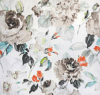 Ткань для штор цветы акварель Otylia Duckegg, фото 1