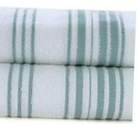 Махровое полотенце 100х150 Hamam Meyzer (PAMUK) White/Aqua