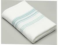 Махровое полотенце тонкое 100х150 Hamam Meyzer  (PAMUK)  White/Aqua