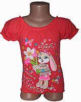 Детская футболка с принтом  Крестьянка Зайка камни (рост от 104см до 140см) Терракота