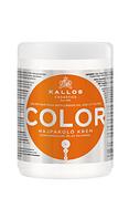 Kallos маска для крашеных волос с льняным маслом и УФ-фильтром, 1л