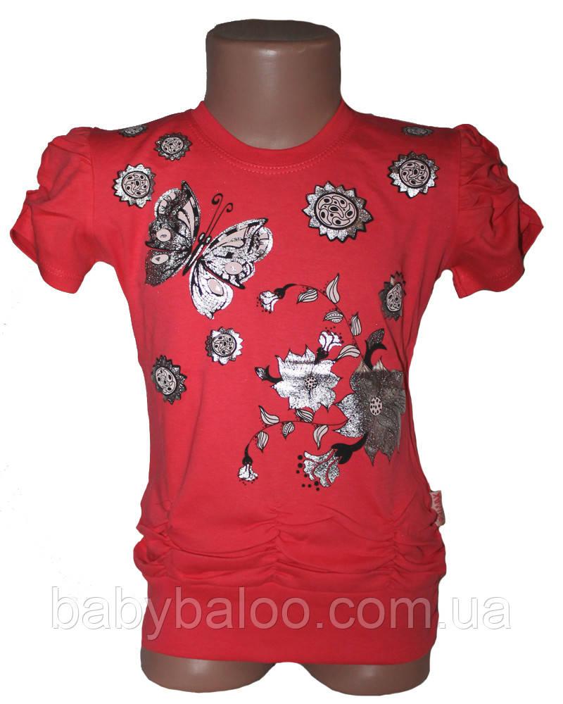Модная детская туника манжет Бабочка (рост от 92см до 110см)